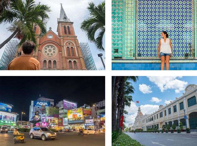 Centre-ville Itinéraire au Vietnam HCMC