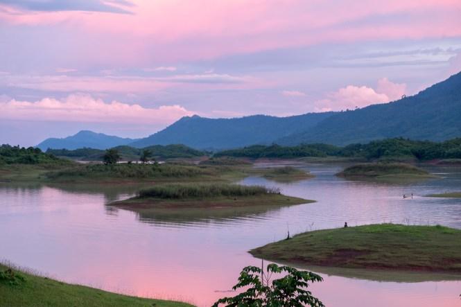 Vang vieng coucher du soleil Itinéraire Laos