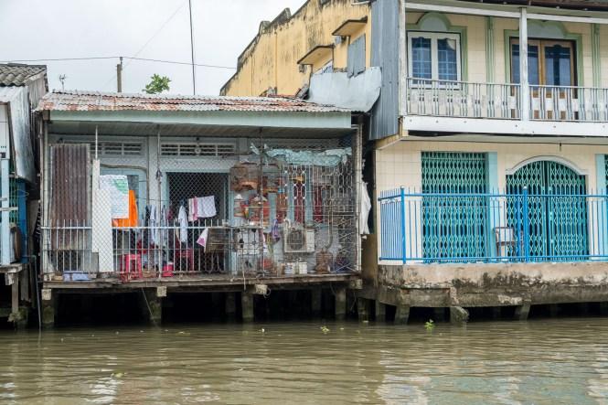 maisons sur l'eau delta du mékong vietnam