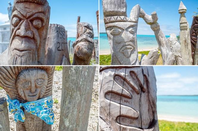 Zoom-totems-baie-saint-maurice-ile-des-pins-nouvelle-calédonie