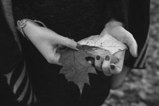 Haende Herbst Blaetter Mahrzahn Park