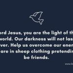 Prayer to conquer evil friends