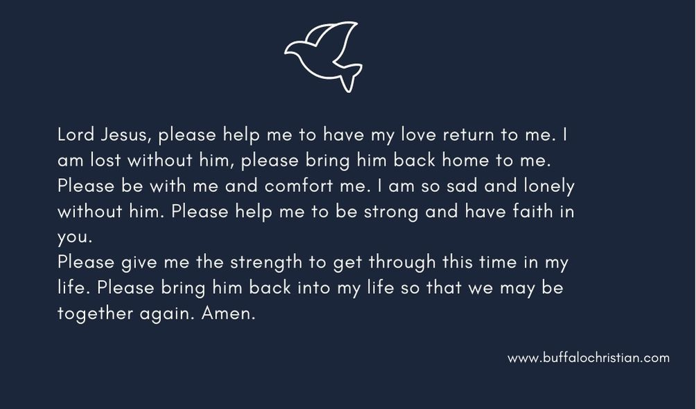 prayer for partner's love and understanding