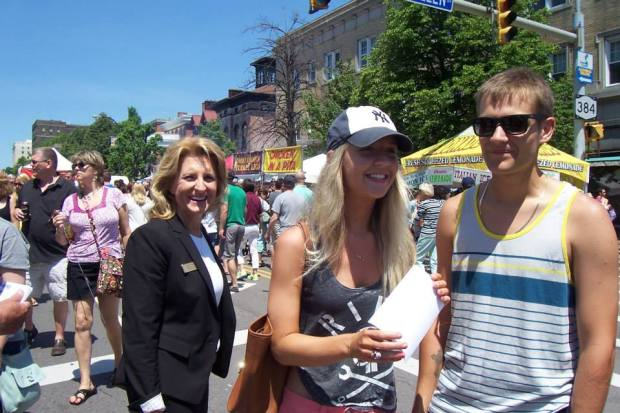 Kathy Weppner on the campaign trail in Allentown.