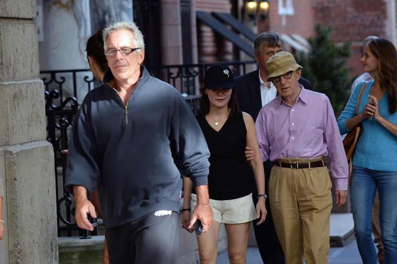 EXCLUSIVE: INF - Jeffrey Epstein goes for a walk with Woody Allen and Soon-Yi Previn in NYC