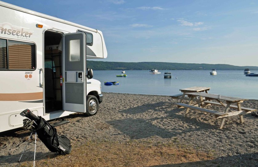 Our RV at Bras d'Or Lakes