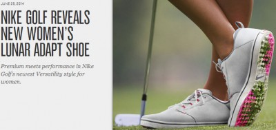 Press Release: Nike Golf Women's Lunar Adapt Shoe