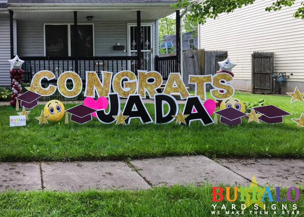 Congratulations Lawn Sign Buffalo New York