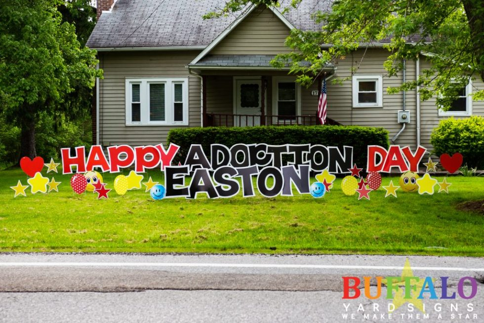 Happy Adoption Day Yard Sign