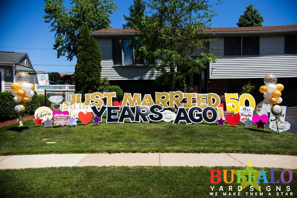 Just Married 50 Years Ago Yard Sign