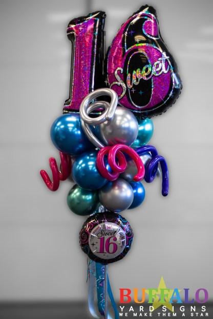 Sweet 16 Balloon Party Pole
