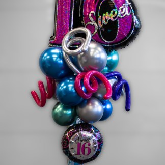 Sweet 16 Balloon Party Pole