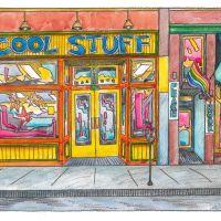 """Cool Stuff and Peace Nook"" by Cody Davis Print av…"