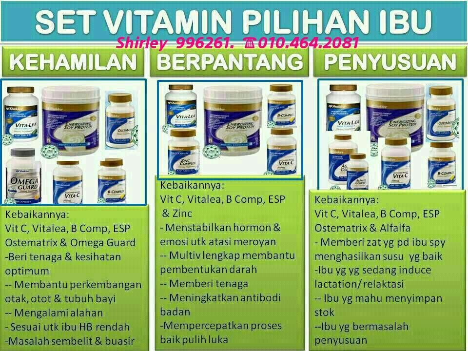 Set Vitamin pilihan ibu.. Semua yang mencuba pastinya