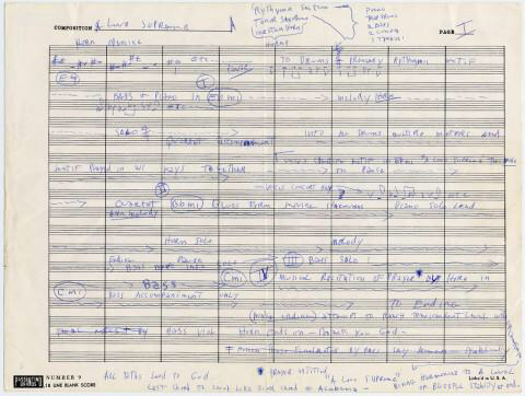 """JohnColtrane's Handwritten Outline for His Masterpiece """"A"""