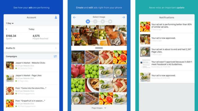 Facebook Ads Manager mobile app
