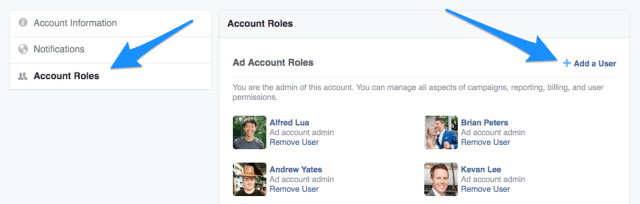 Facebook Ads Manager - Add a User