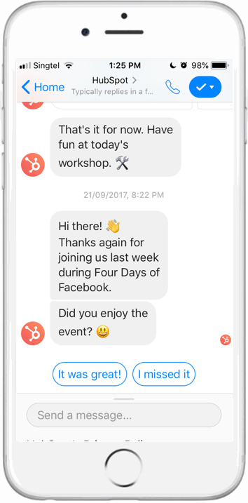 Messenger conversation screenshot