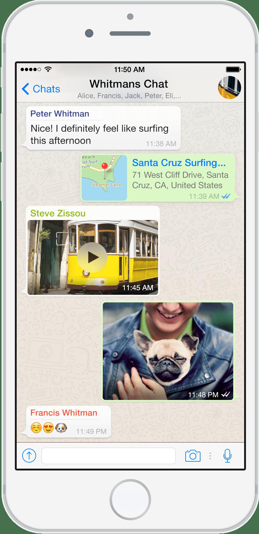 WhatsApp conversation screenshot