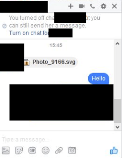 Attackers are using facebook messenger to spread Locky Ransomware