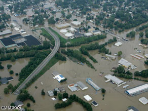flood in the Midwest