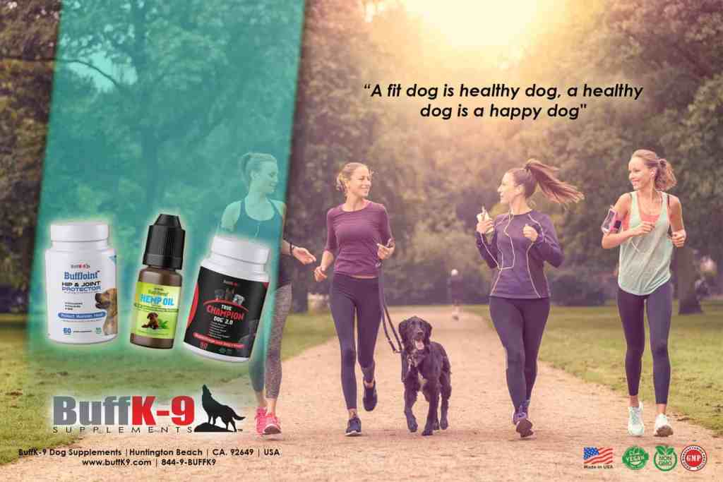 buffk9 dog exercise girls supplements vitamins fitness healthy nutrition canine dog training
