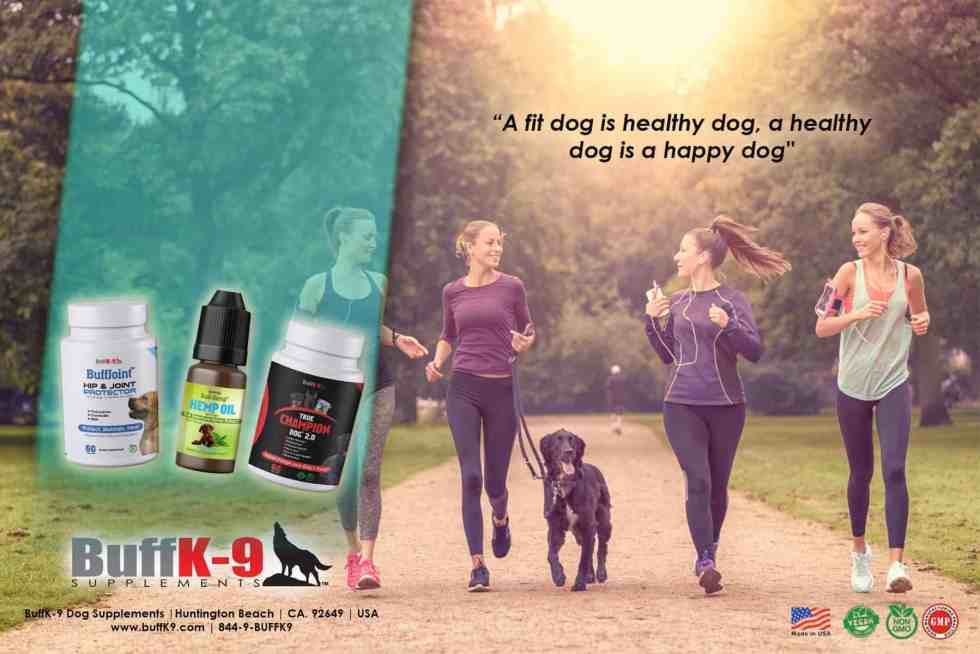 buffk9 dog exercise girls supplements vitamins fitness healthy nutrition canine