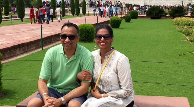 Sumeet and Family at the Golden triangle, India