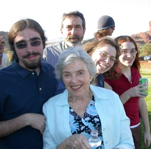 My mom joined us for Jake's high school graduation, May, 2006.