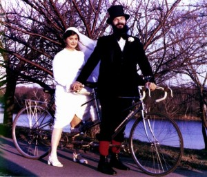 Photo from sheldonbrown.com (we rode a tandem on our honeymoon, but not at the wedding!)