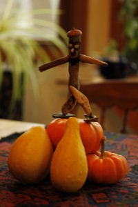 Driftwood dude surfs on pumpkins!