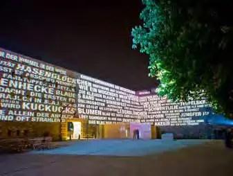 Lichtinstallation in Rahmen der BUGA Koblenz 2011. (Foto: Piel media)