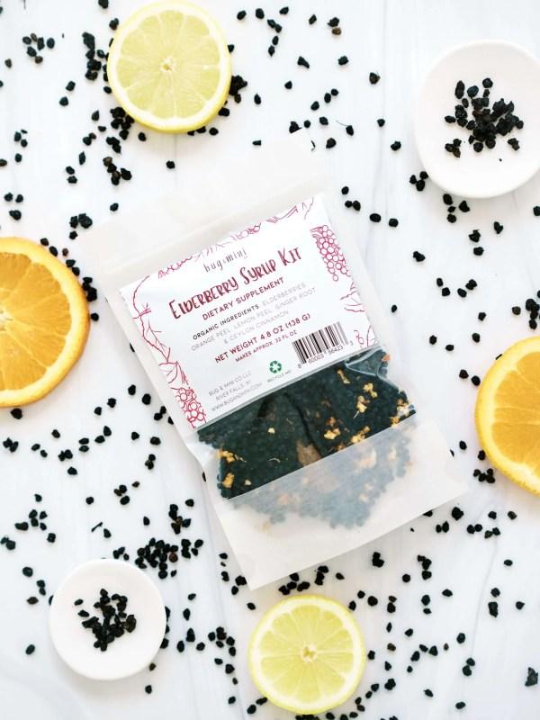 Organic Elderberry Syrup do it yourself kit