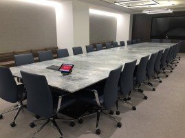 Blue de Savoie stone conference table