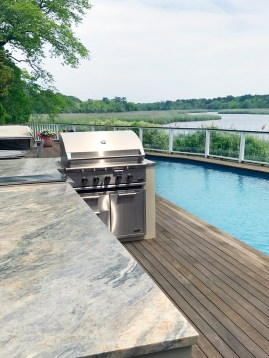 Quartzite Cielo outdoor kitchen countertop