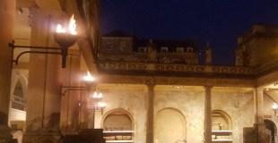 A Family Torchlit Visit To Roman Baths In Bath