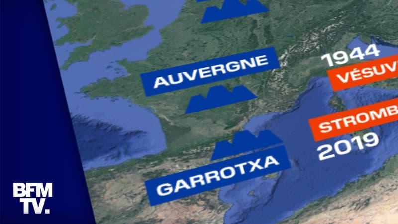 CARTE. Éruption aux Canaries: où se situent les principaux volcans français et européens?