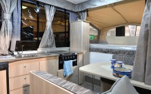 The interior of the Jayco pop up