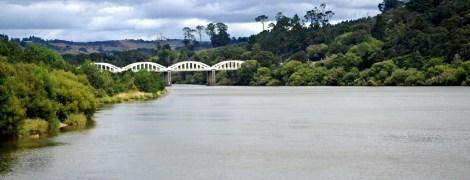 On the way towards Port Waikato, the Tuakau bridge.