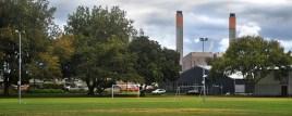 Huntly power station fro Lake Hakanoa