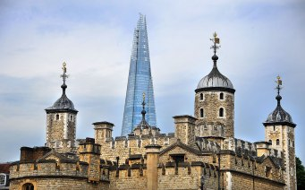 The Shard behind the Tower of London
