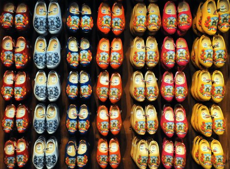 Clogs on the wall for sale