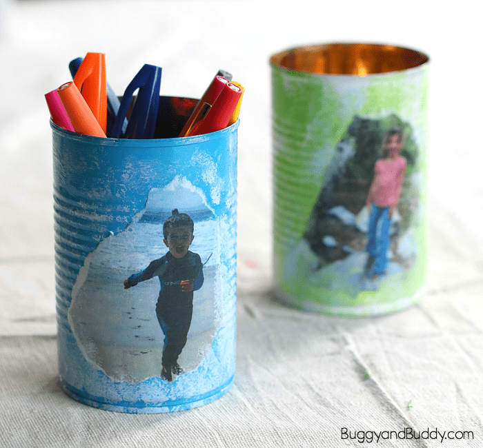 Personalized Tin Can Pencil Holder Craft For Mothers Day