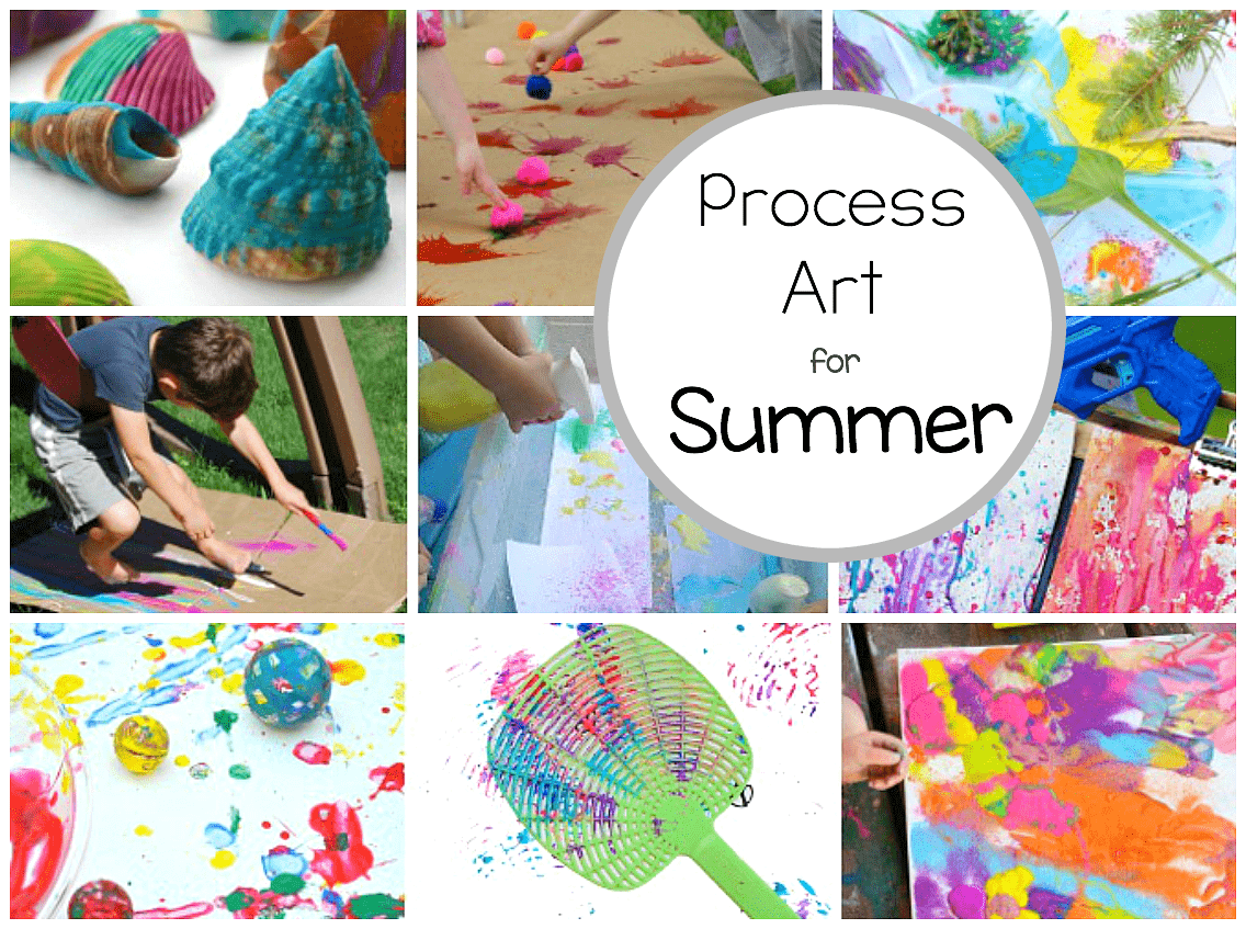 Preschool Process Art Activities Perfect For Summer