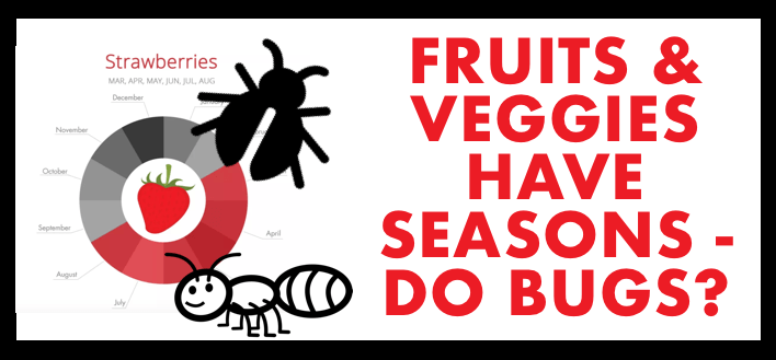 Fruits and Vegetables have Seasons. Do Bugs?