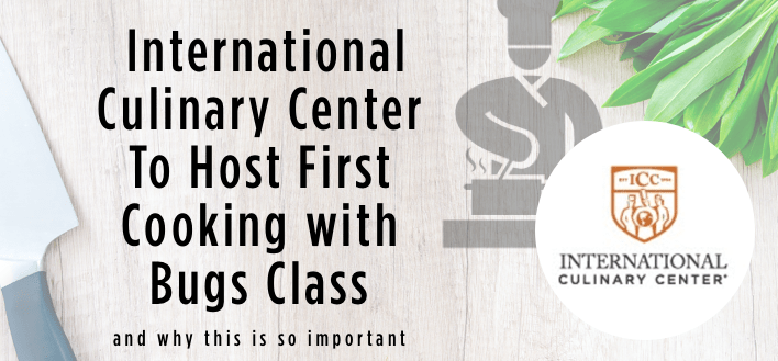 The International Culinary Center To Host First Cooking with Bugs Class + Why This Is Important!