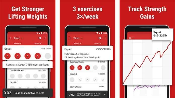 Stronglifts  é destacado um dos maiores apps