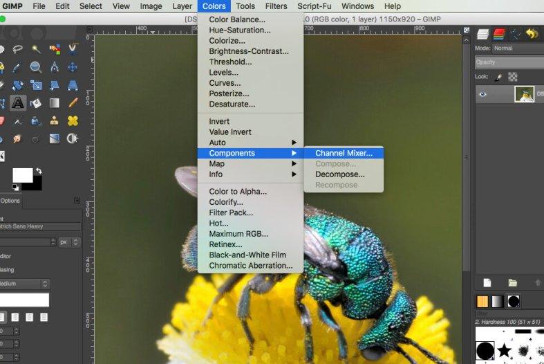 Channel Mixer in GIMP mac
