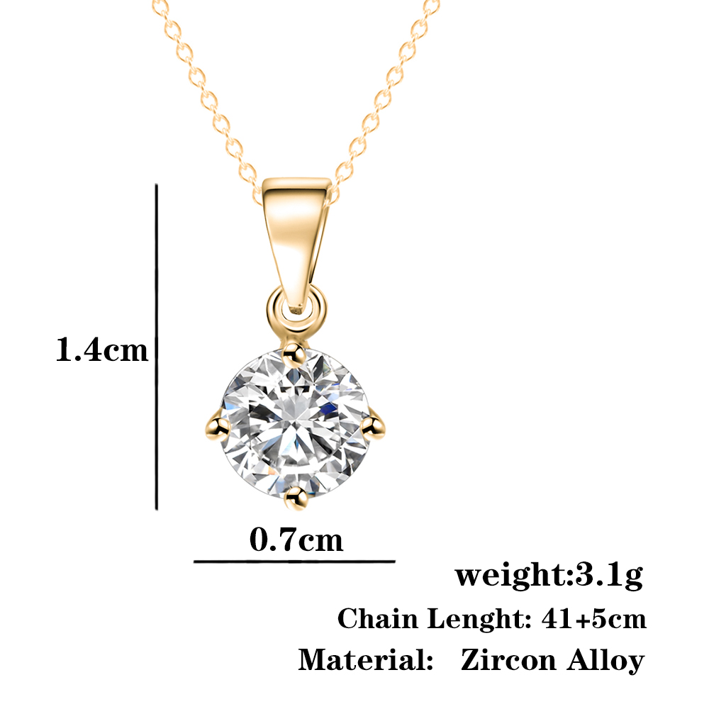 If me simple fashion jewelry silver and gold color round shape cz if me simple fashion jewelry silver and gold color round shape cz cubic zirconia pendant aloadofball Images