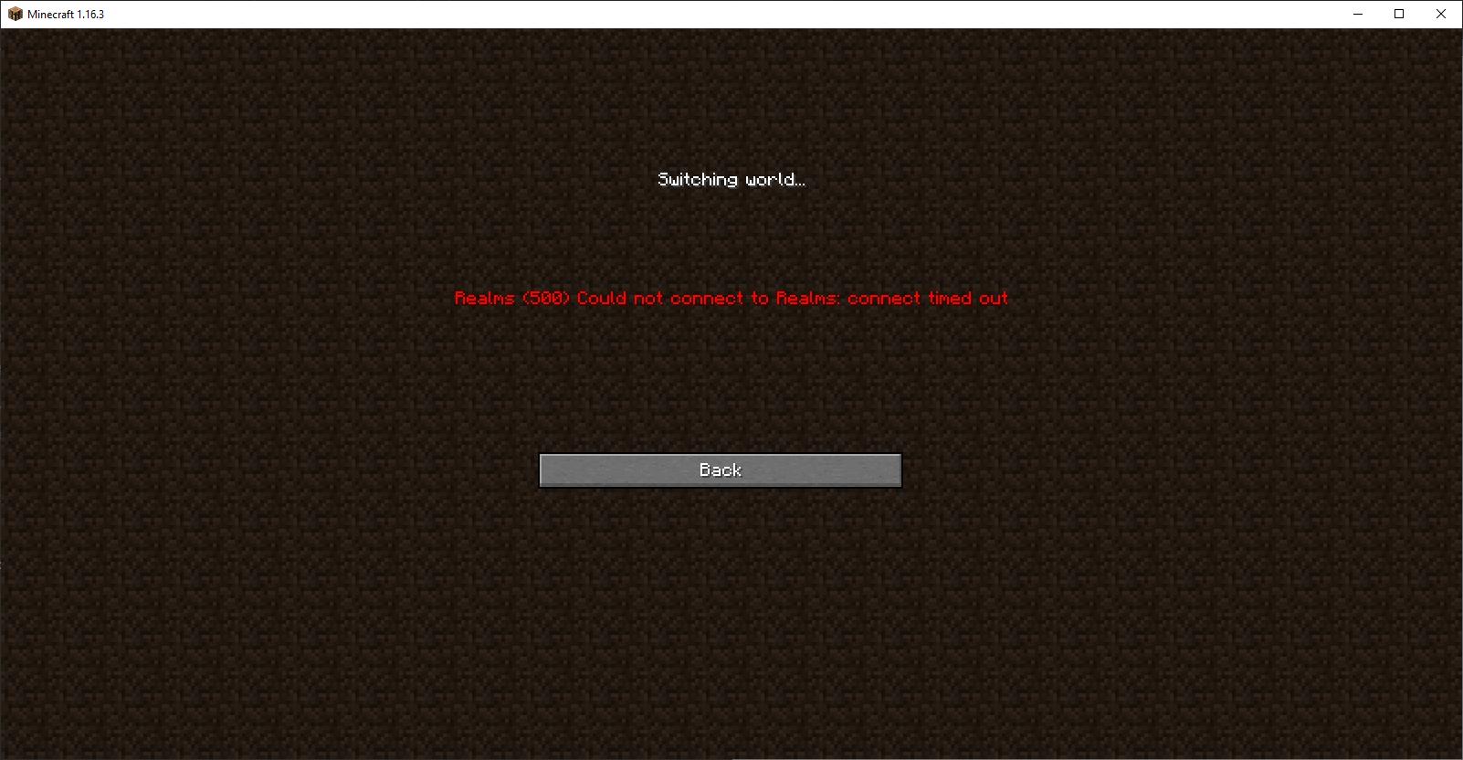 Minecraft Realms Not Working